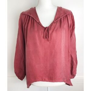 Young Fabuous & Broke • NWT Clay Red V Neck Blouse